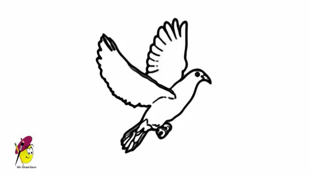 how to draw an easy dove how to draw doves step by step birds animals free to an easy how draw dove