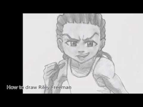 how to draw boondocks riley how to draw riley freeman the boondocks comment dessiner how riley draw boondocks to