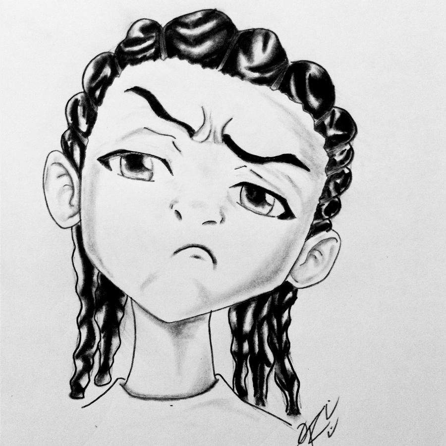 how to draw boondocks riley riley freeman by odrozz on deviantart boondocks to riley how draw