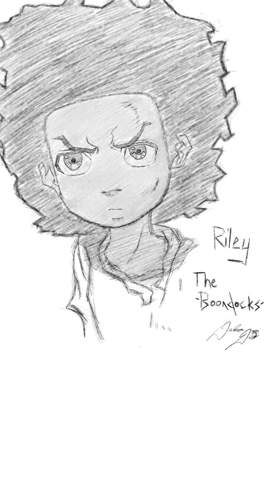 how to draw boondocks riley riley from boondocks by malevolentbcool on deviantart draw boondocks to riley how