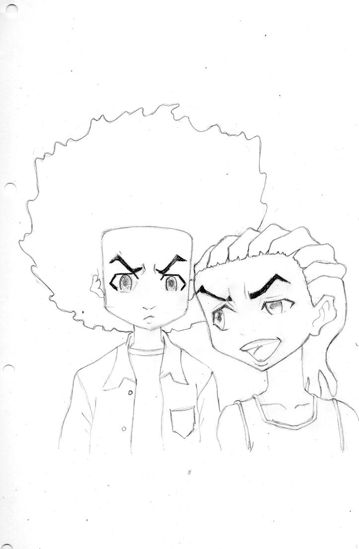 how to draw boondocks riley the boondocks riley and huey by sandi x on deviantart riley how to boondocks draw
