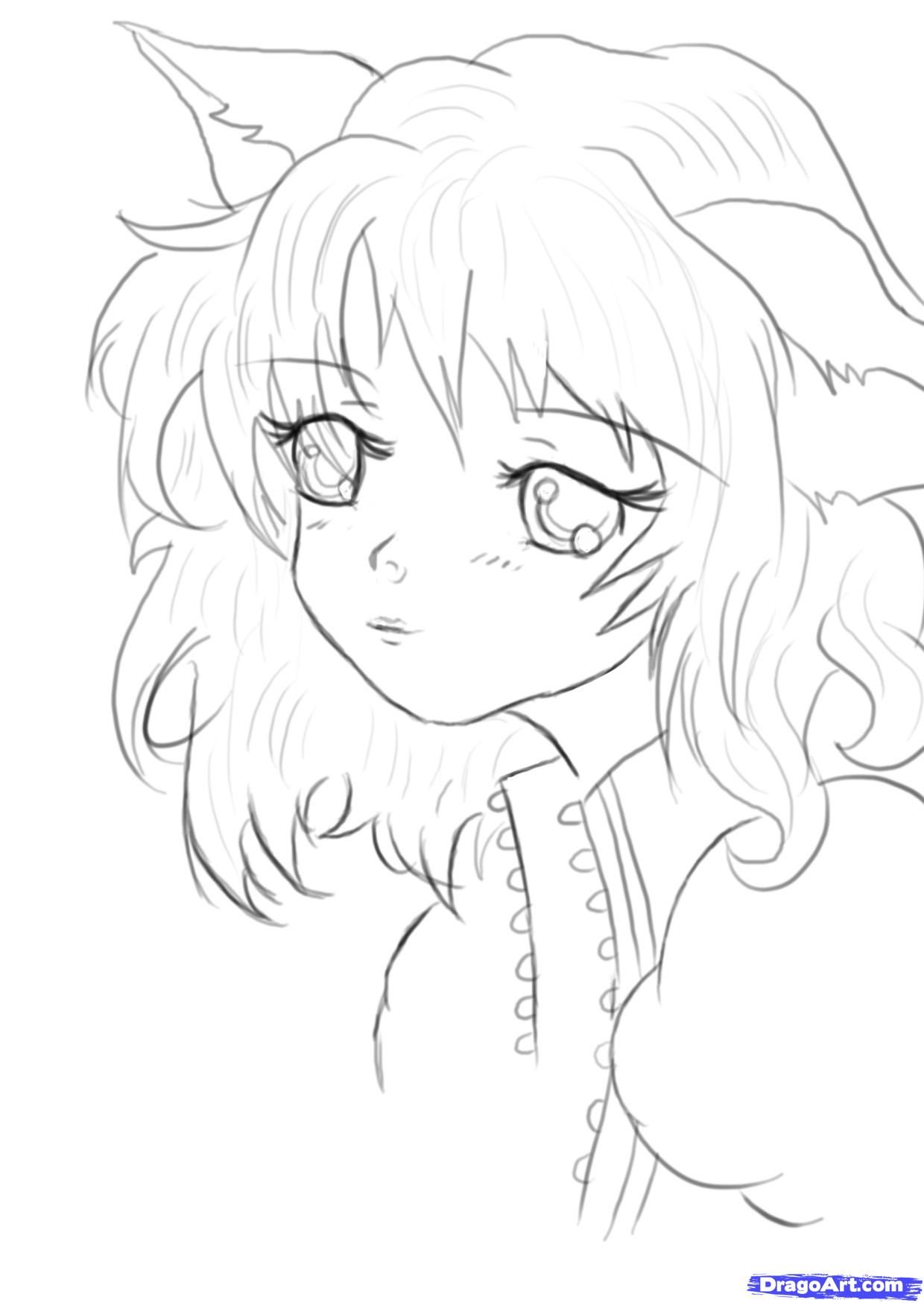 how to draw cute anime anime girl easy drawing at paintingvalleycom explore to anime how draw cute