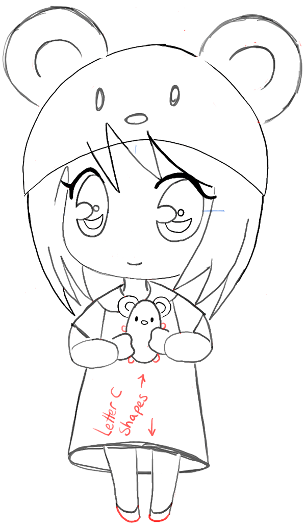 how to draw cute anime girl base simple easy anime drawings free transparent how to draw cute anime