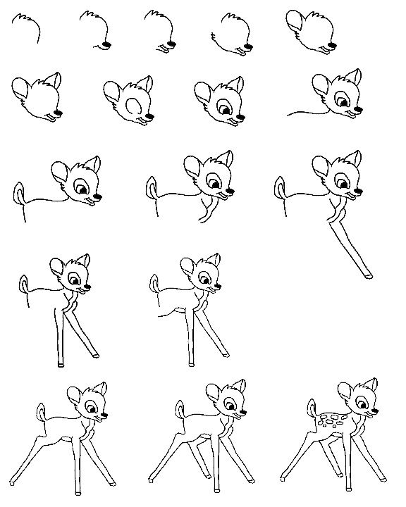 how to draw disney animals buck step by step drawing how to draw a deer step by draw animals disney to how