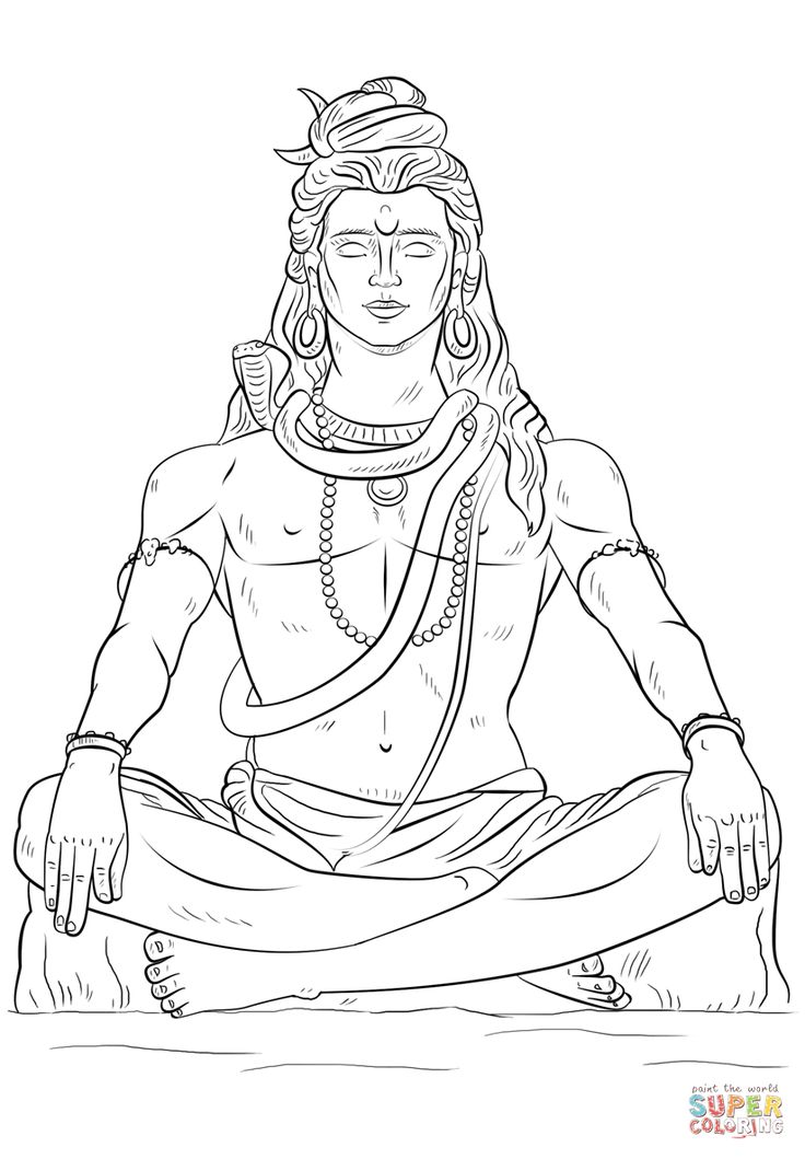 How to draw lord shiva