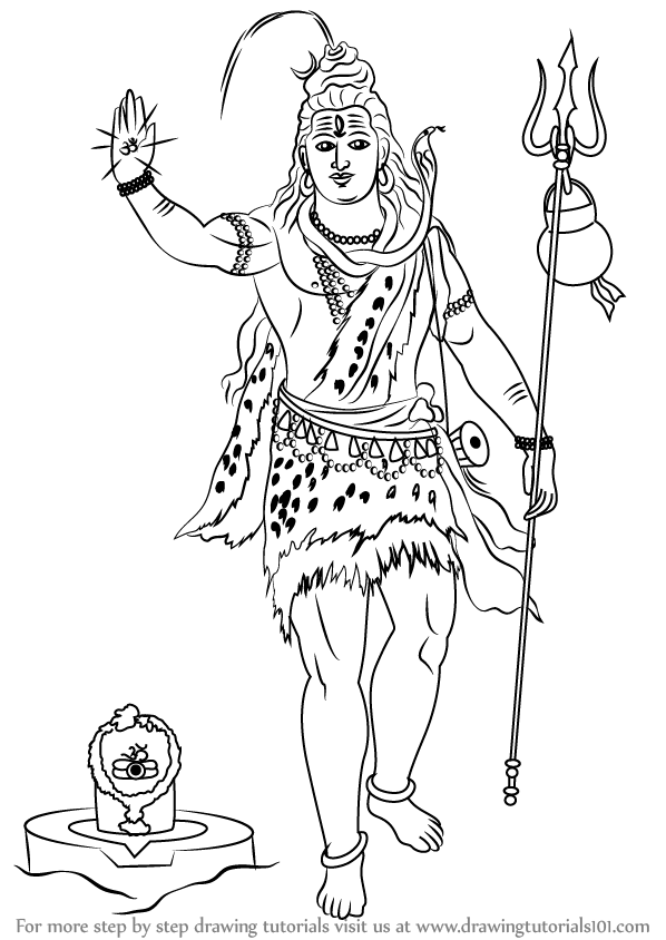 how to draw lord shiva nataraja drawing at getdrawings free download how shiva to lord draw