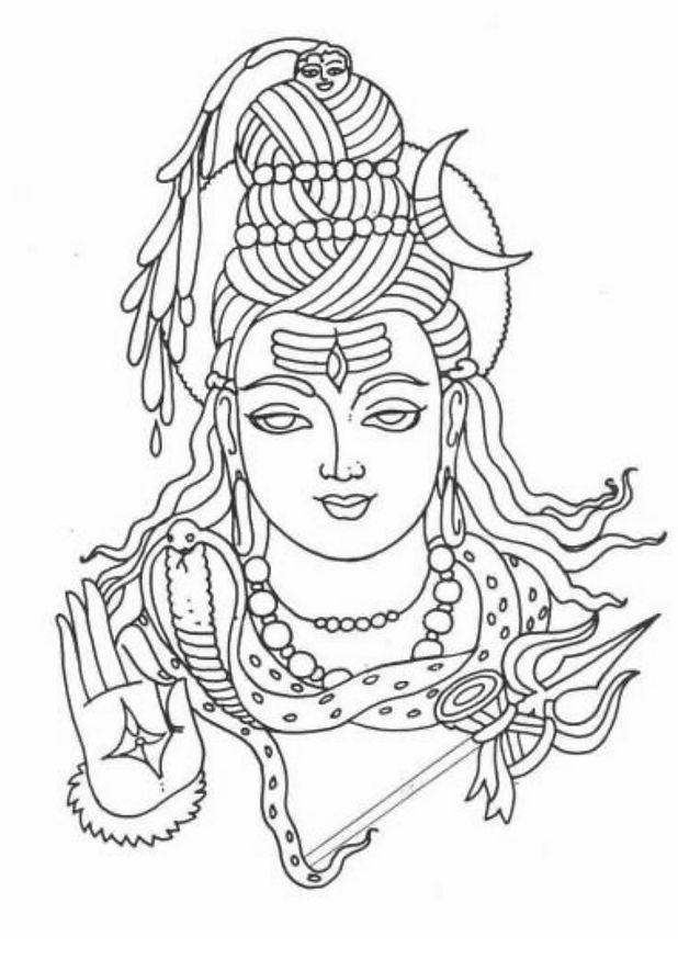 how to draw lord shiva pin by chitra on deities shiva hindu art shiva art lord how shiva to draw