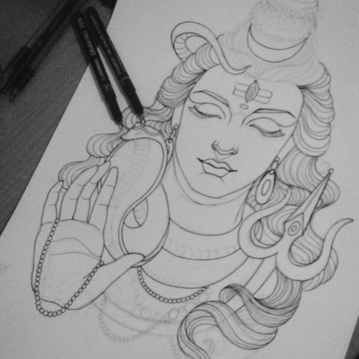 how to draw lord shiva pin by haryram suppiah on lord shiva and his family to how lord shiva draw