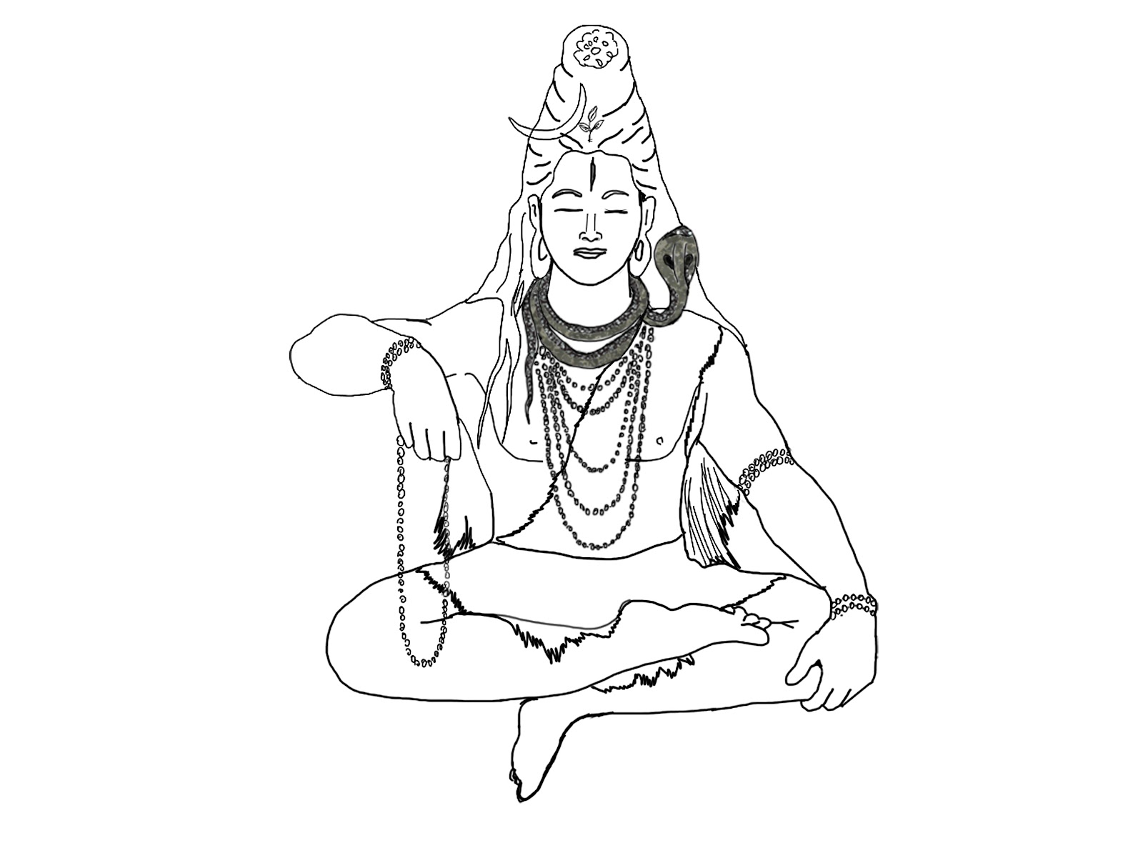 how to draw lord shiva shiva drawing at getdrawings free download how shiva to lord draw