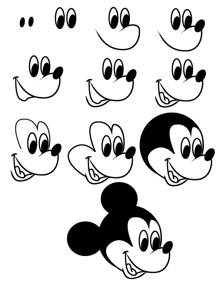 how to draw miney mouse easy cute mickey mouse drawing drawing art ideas miney mouse draw how to