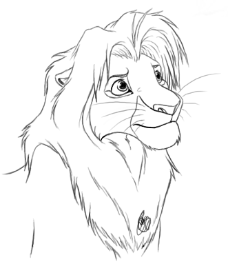 how to draw simba how to draw simba grown up draw simba to how