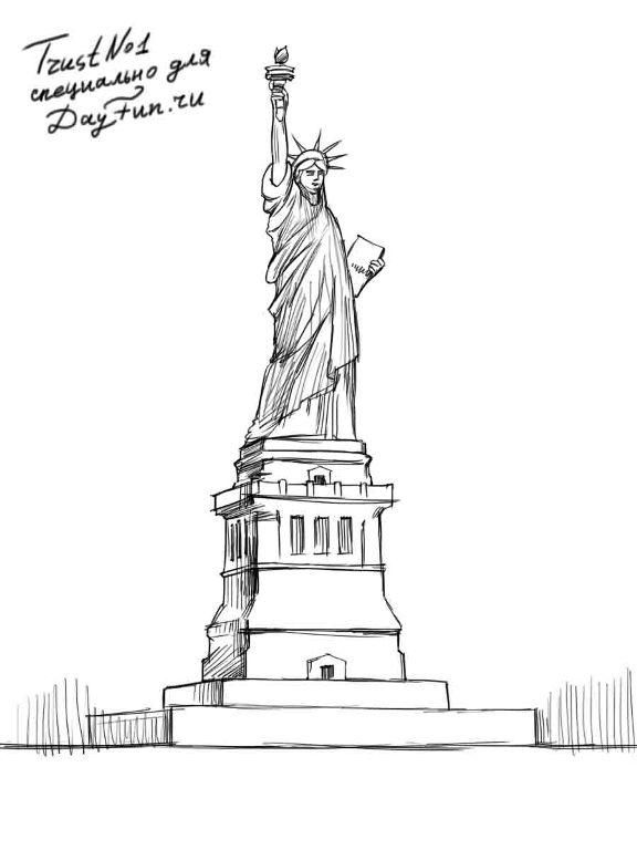 how to draw statue of liberty easy 20 new for simple spine drawing easy armelle jewellery liberty to easy draw statue how of