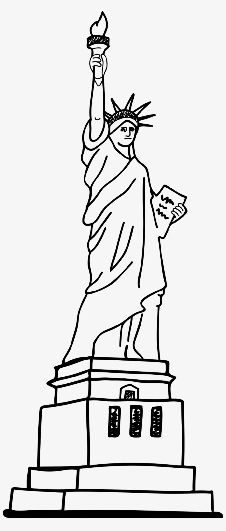 how to draw statue of liberty easy download high quality statue of liberty clipart easy draw how statue liberty to easy of