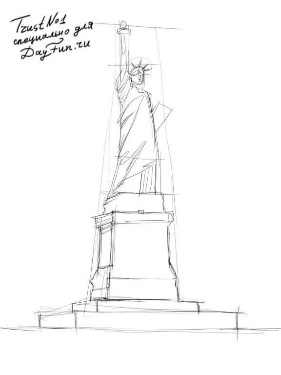 how to draw statue of liberty easy how to draw the statue of liberty step by step 3 statue of easy liberty draw statue to how