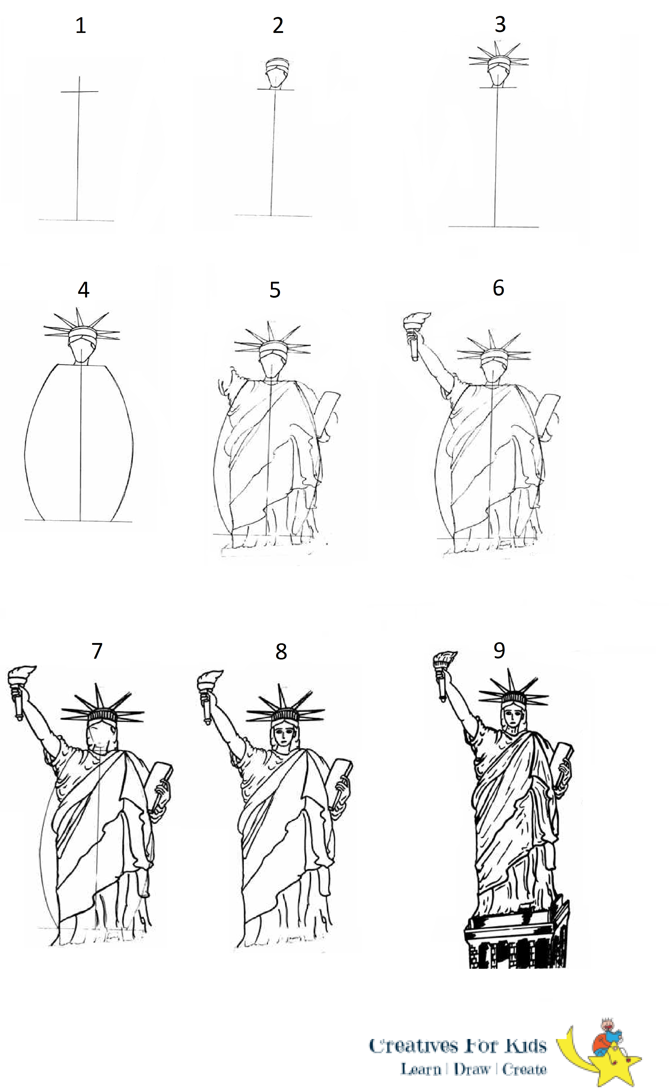 how to draw statue of liberty easy how to draw the statue of liberty step by step tutorial how draw to liberty easy of statue