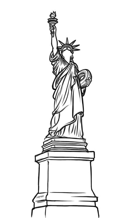 how to draw statue of liberty easy pin on Картины интерьер easy liberty how statue of to draw