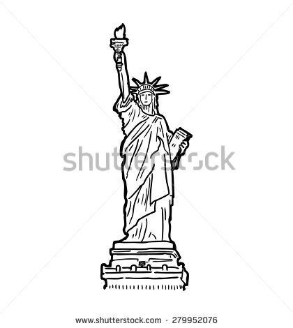 how to draw statue of liberty easy statue of liberty black and white drawing at statue to liberty of how easy draw