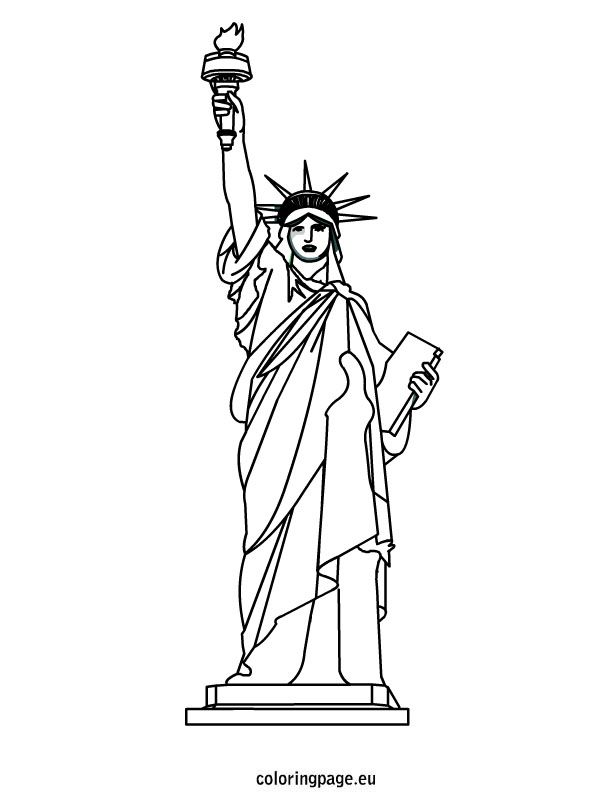 how to draw statue of liberty easy statue of liberty coloring sheet statue of liberty draw of to how statue easy liberty