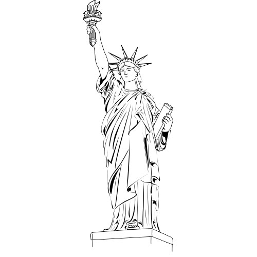 how to draw statue of liberty easy statue of liberty drawing easy gallery clipartsco statue how draw liberty of easy to