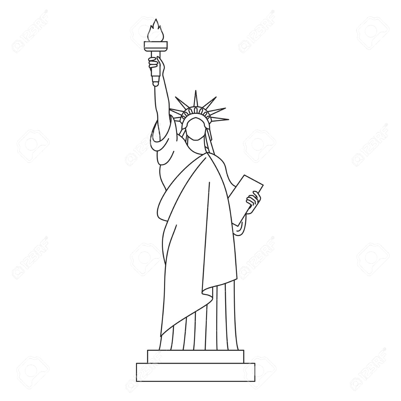 how to draw statue of liberty easy statue of liberty google search 1st grade team how to easy statue draw of liberty