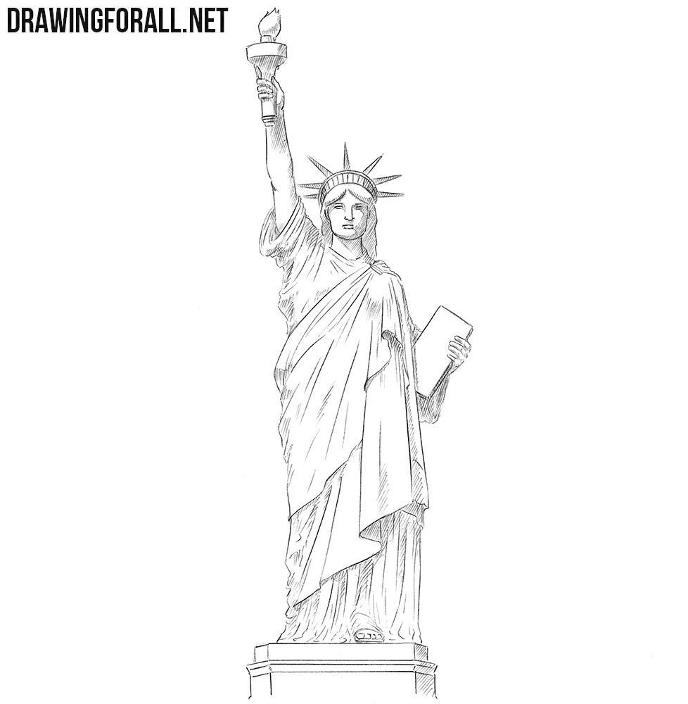 how to draw statue of liberty easy statue of liberty stock vector freeimagescom draw easy of to statue how liberty
