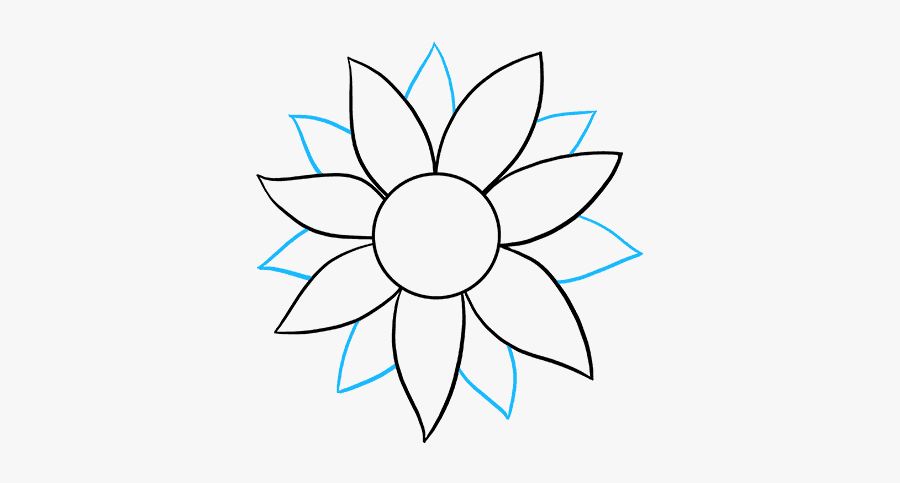 how to draw sunflower easy tumblr sunflower drawing aesthetic elegants how draw sunflower to