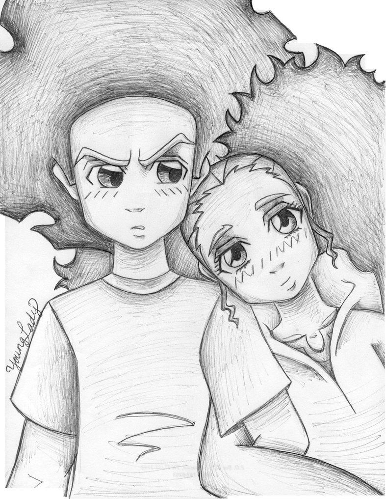 how to draw the boondocks boondocks coloring pages riley black and white free how the draw boondocks to
