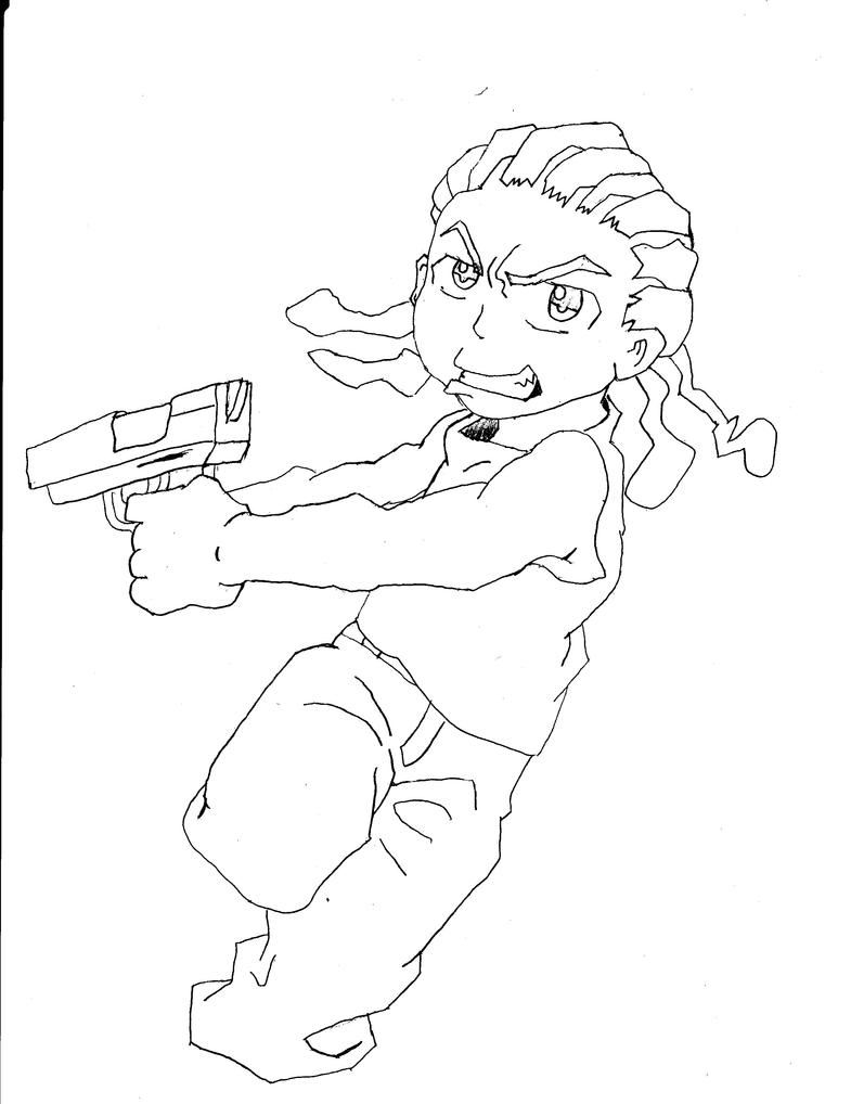 how to draw the boondocks sketch from the boondocks riley coloring pages how draw boondocks to the