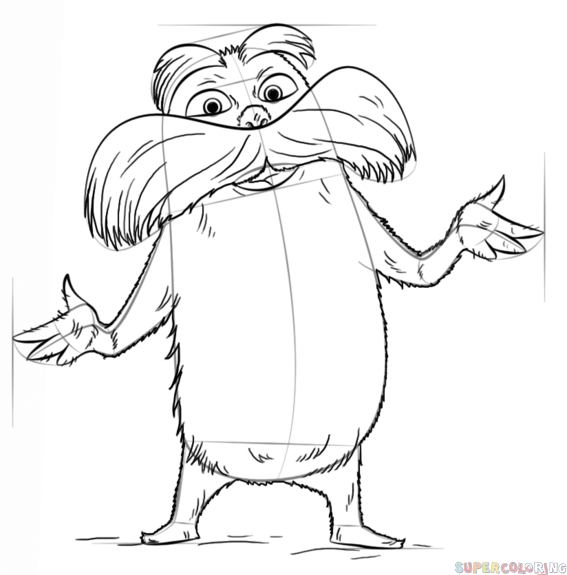 how to draw the lorax how to draw the lorax step by step drawing tutorials to lorax how draw the
