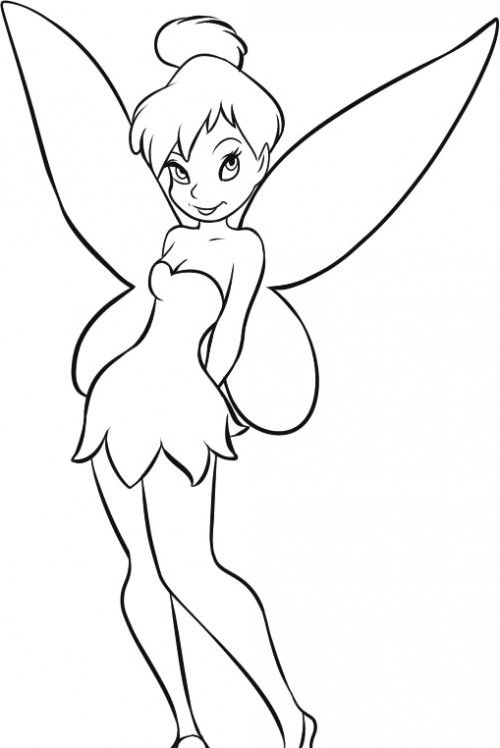 how to draw tinker bell easy drawing of tinkerbell at getdrawings free download how bell to tinker draw