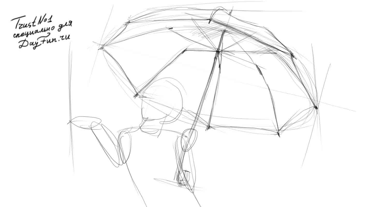 how to draw umbrella learn how to draw a skeleton everyday objects step by draw how to umbrella