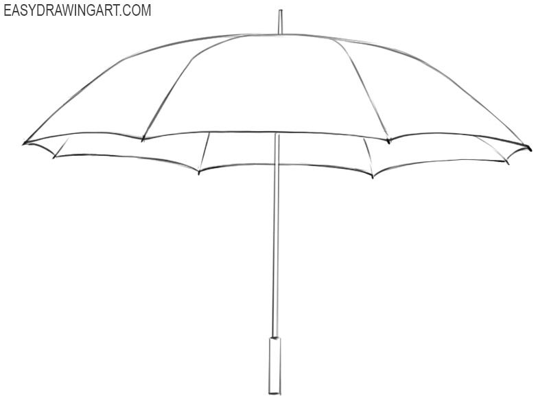 how to draw umbrella set of open and closed hand drawn umbrellas vector sketch to umbrella draw how