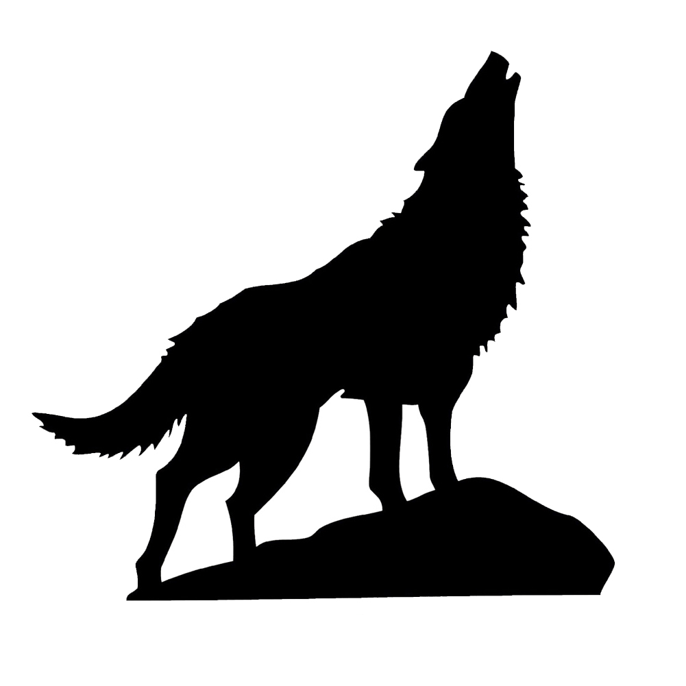howling wolf drawing howling wolf silhouette vinyl sticker car decal drawing howling wolf