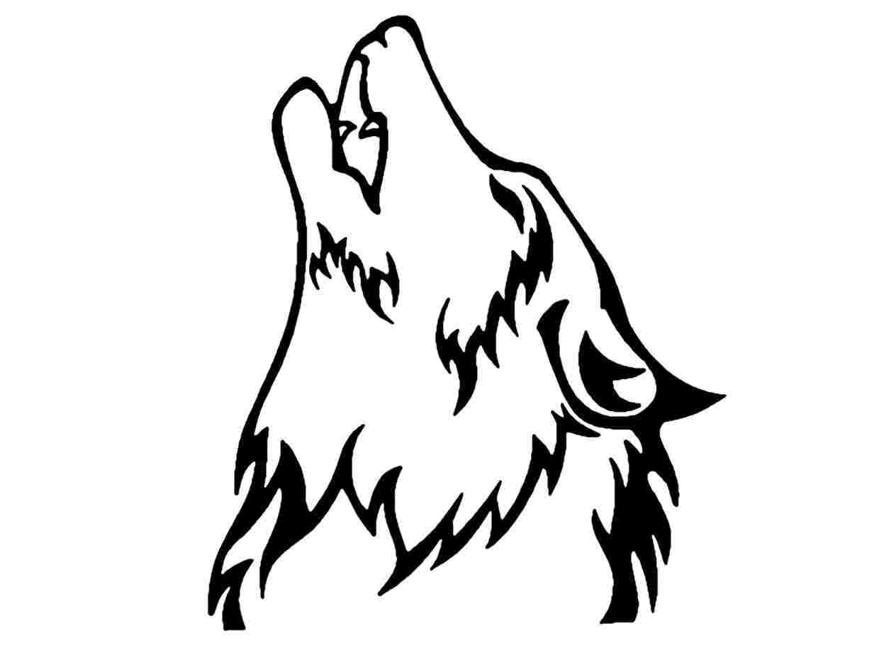 howling wolf drawing wolf head drawing at paintingvalleycom explore howling drawing wolf