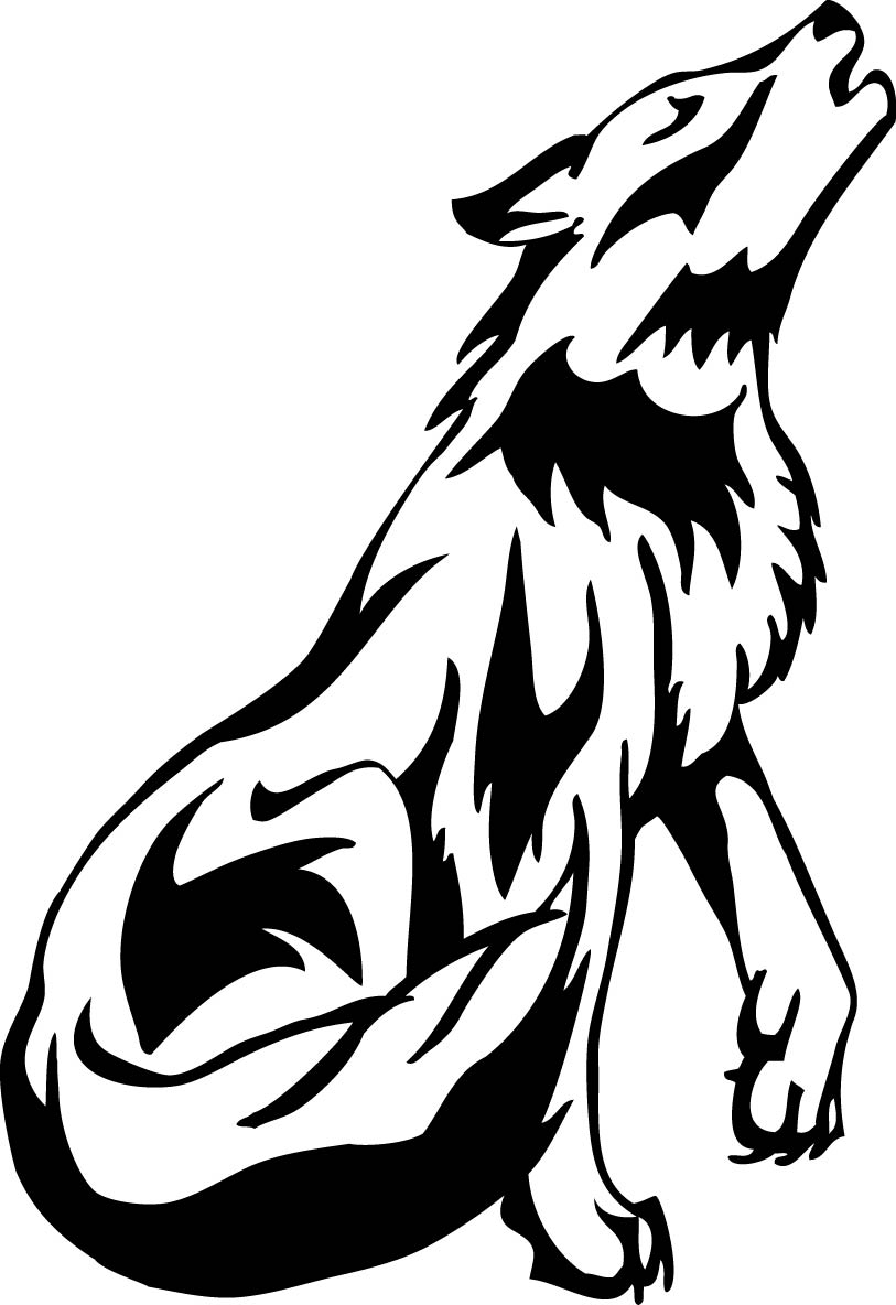 howling wolf drawing wolf howling drawing clipart best wolf howling drawing