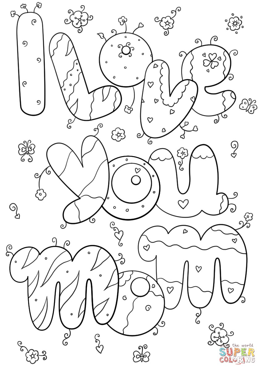 i love my mom coloring pages i love you mom coloring pages coloring i my pages love mom