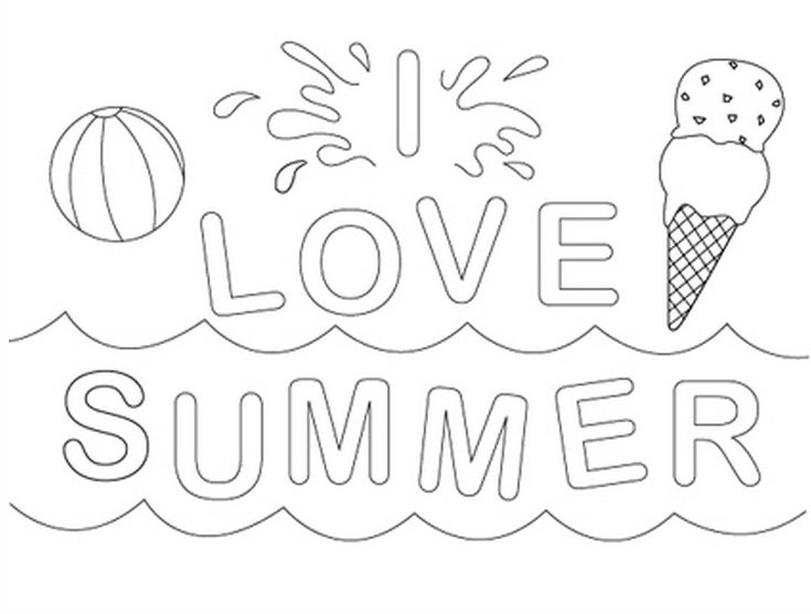 i love summer coloring pages free summer coloring pages printable pages love summer coloring i
