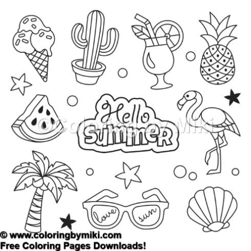 i love summer coloring pages hello summer coloring page 718 summer coloring pages pages summer i coloring love
