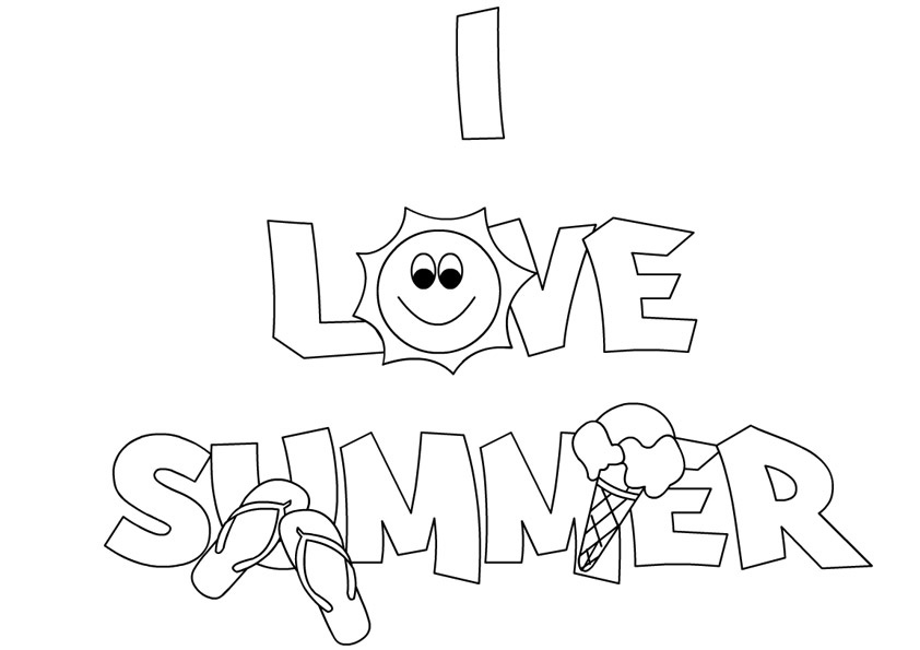 i love summer coloring pages i love summer coloring page twisty noodle summer love i coloring pages