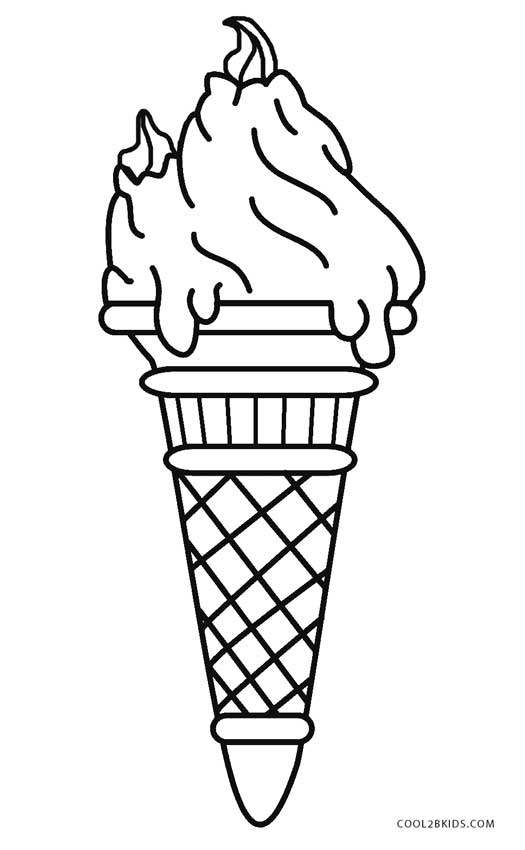 ice cream cone coloring page ice cream cone drawing at getdrawings free download coloring cone page ice cream