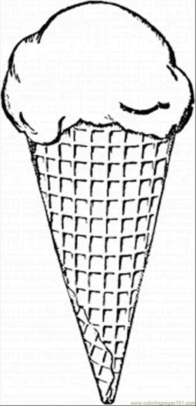 ice cream cone coloring page ice cream cone drawing at getdrawings free download cream ice page cone coloring