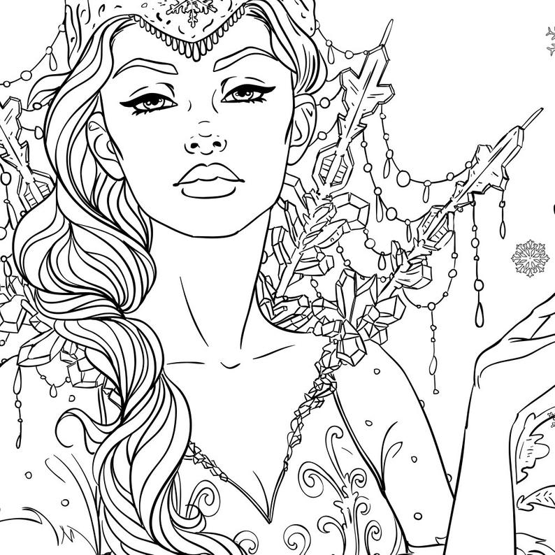 ice queen coloring pages dark snow queen lineart by sugahrocktoy96 snow queen queen ice coloring pages