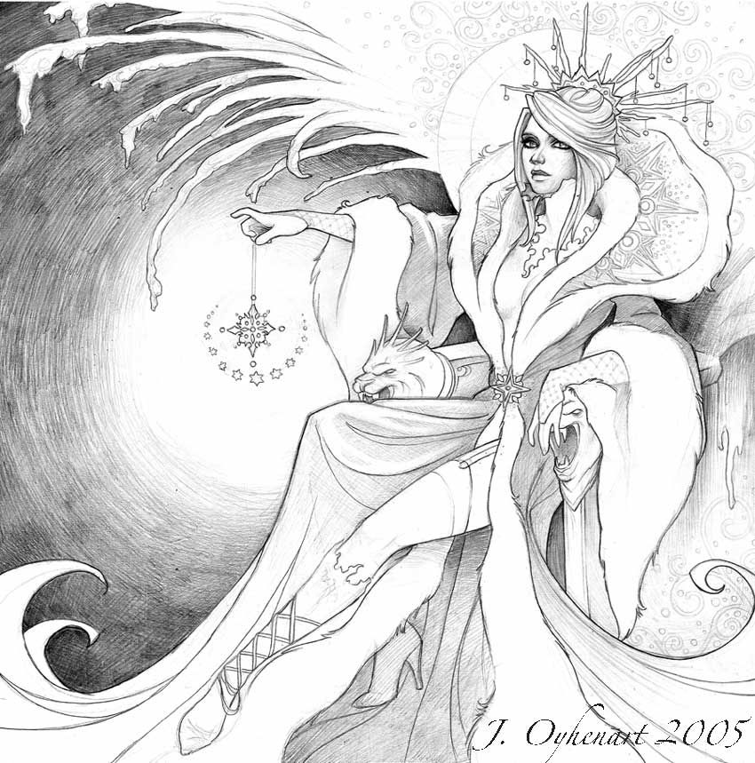 Ice queen coloring pages