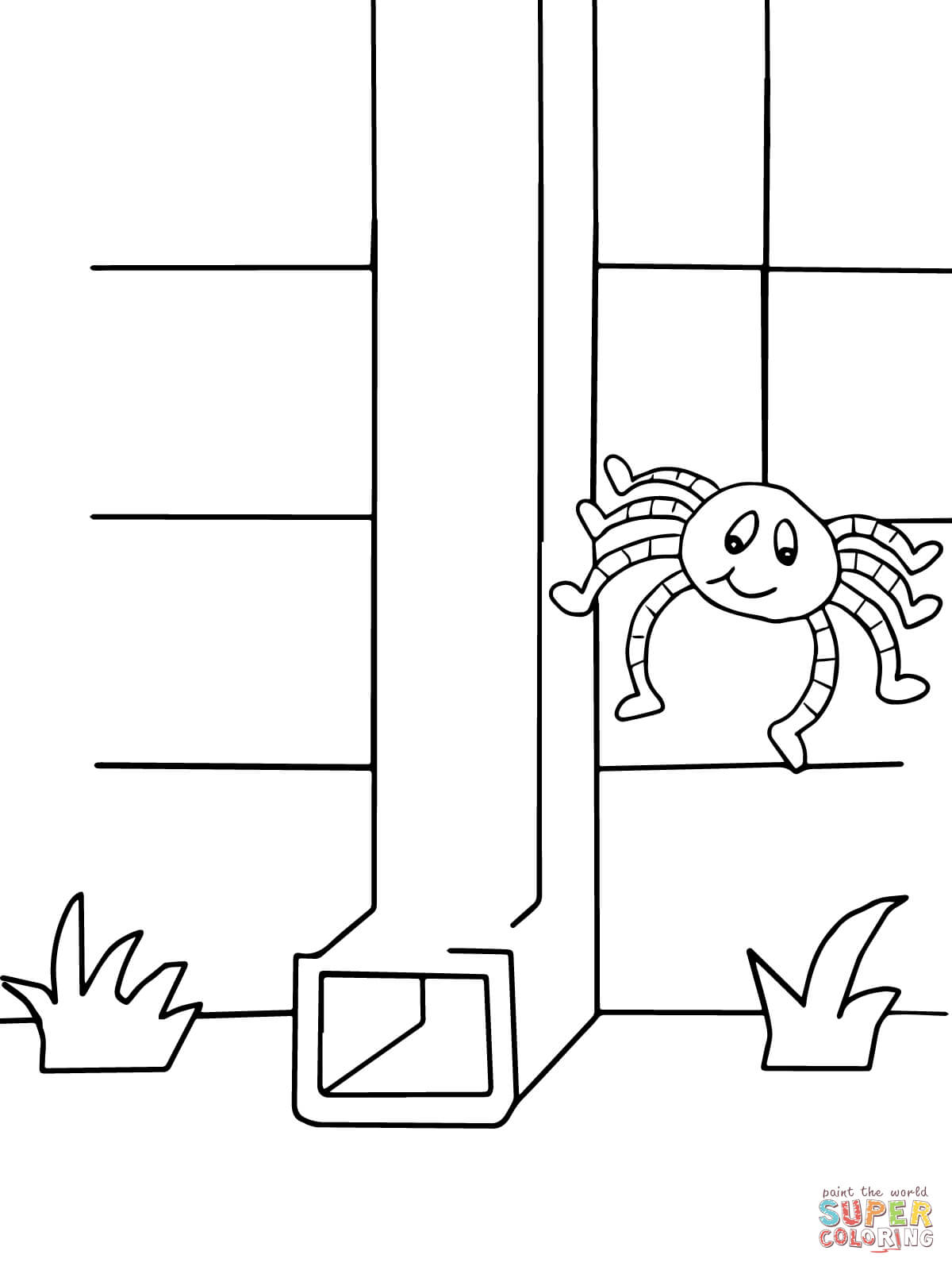 incy wincy spider colouring pages incy wincy spider coloring page twisty noodle spider colouring wincy incy pages