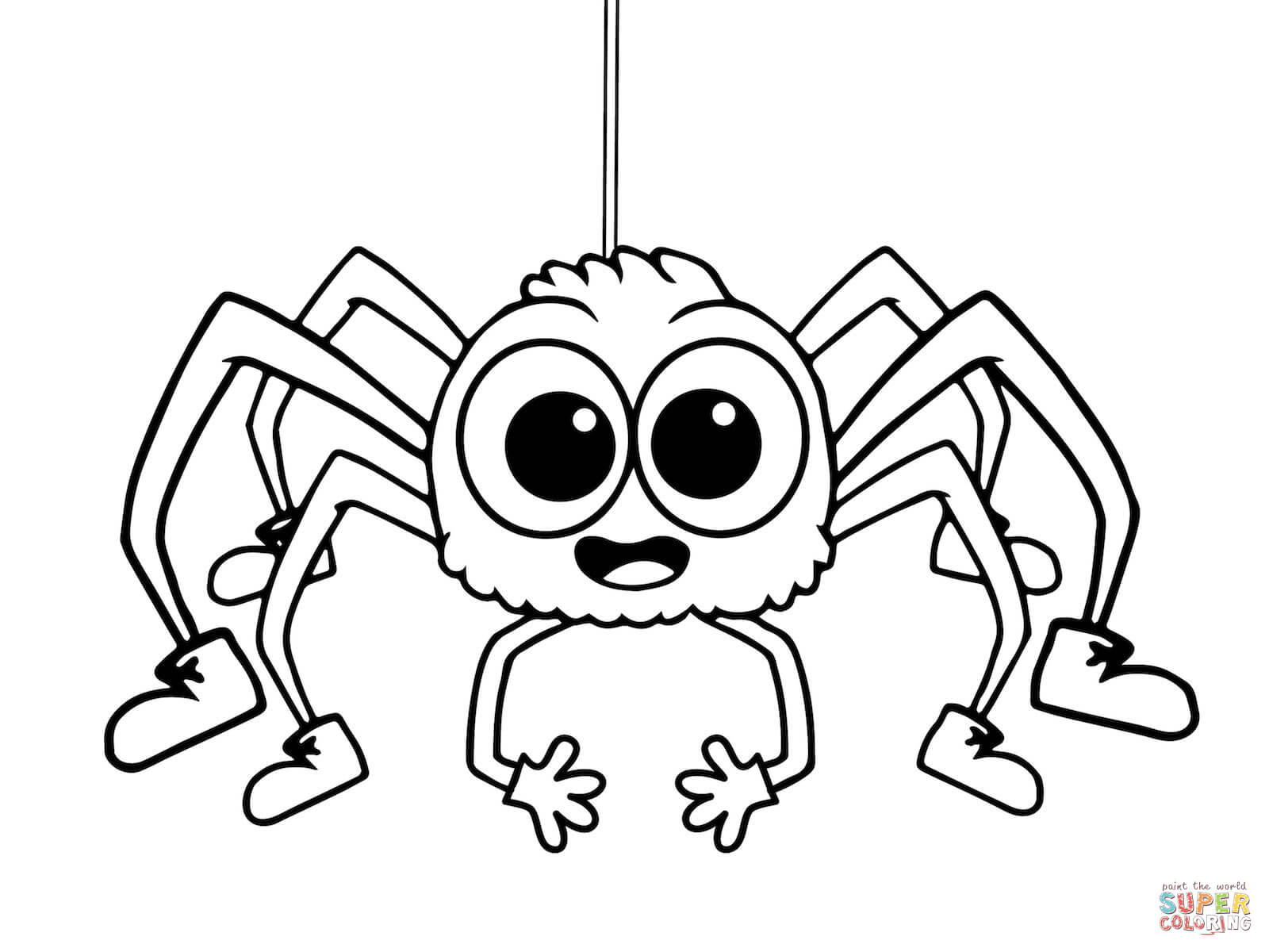 Incy wincy spider colouring pages