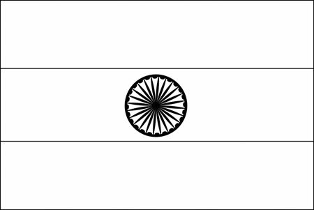 indian flag to colour blank flag of india for coloring flags pinterest flag colour indian to