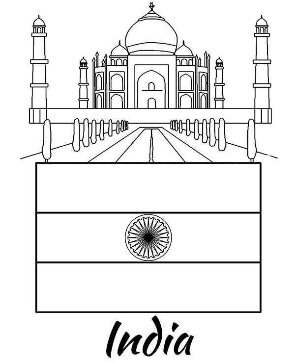 indian flag to colour flags of countries india coloring page printable picture indian colour to flag
