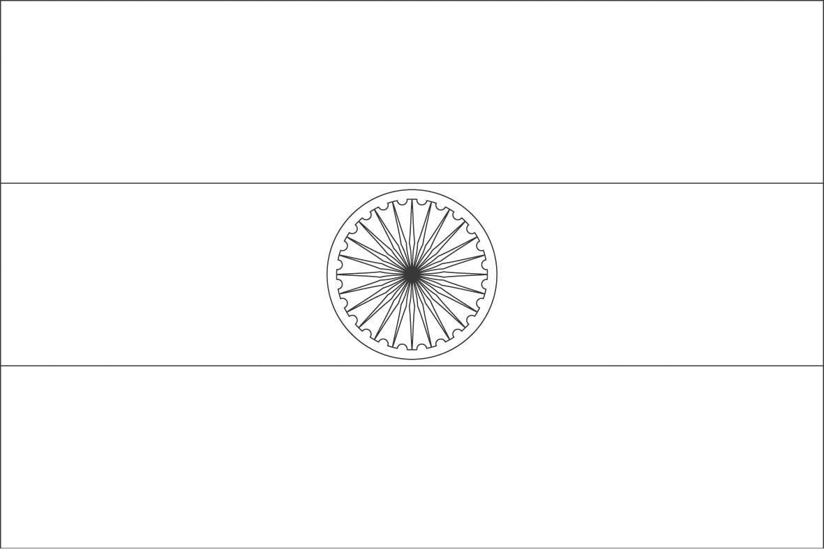 indian flag to colour india flag coloring page coloring home colour indian flag to