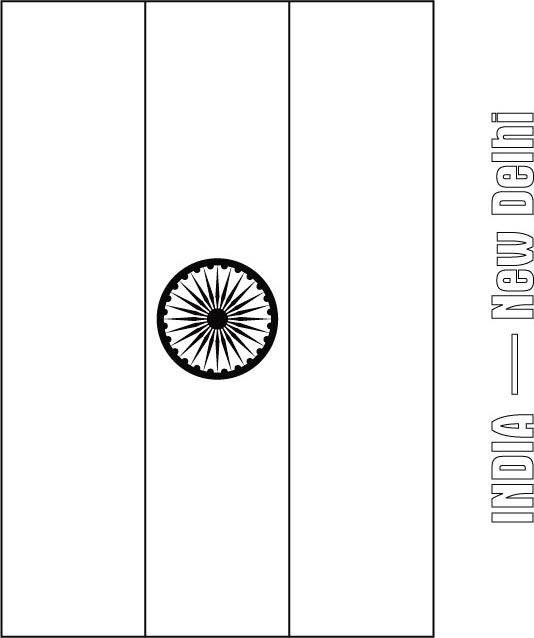 indian flag to colour india flag coloring page download free india flag to indian flag colour
