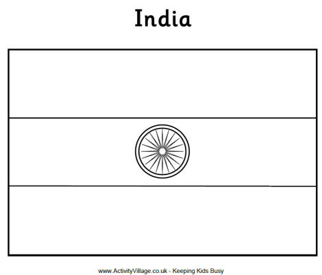 indian flag to colour india flag colouring page colour flag indian to